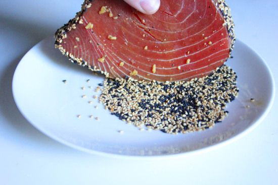 Sesame-Crusted Tuna Steak | Recipes | Pinterest