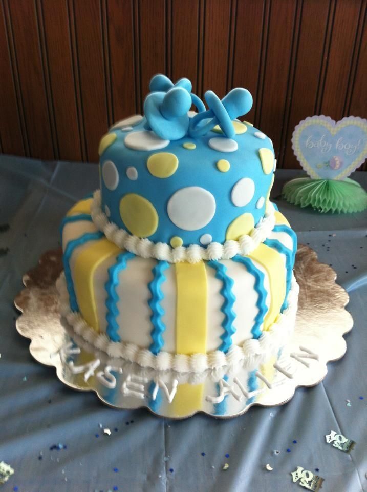 Living room decorating ideas baby boy shower cake ideas for Baby boy cake decoration