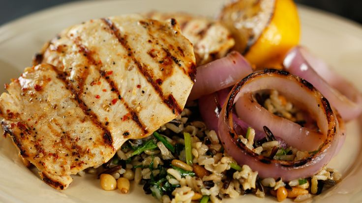 Grilled Lemon-Orange Chicken with Roasted Garlic & Rosemary Brown-and ...