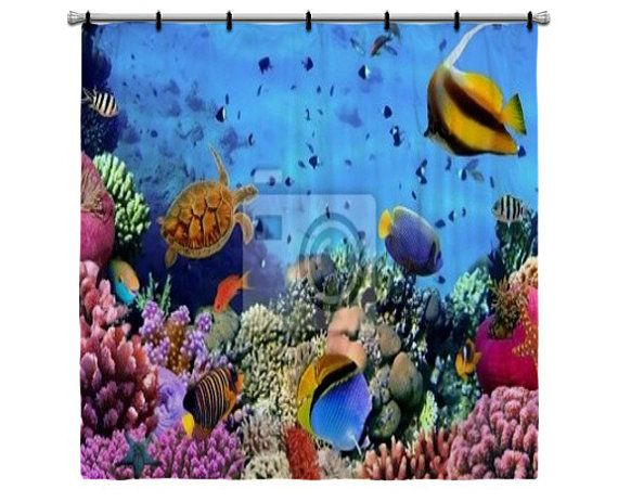 Coral reef shower curtain click for details coral reef shower curtain