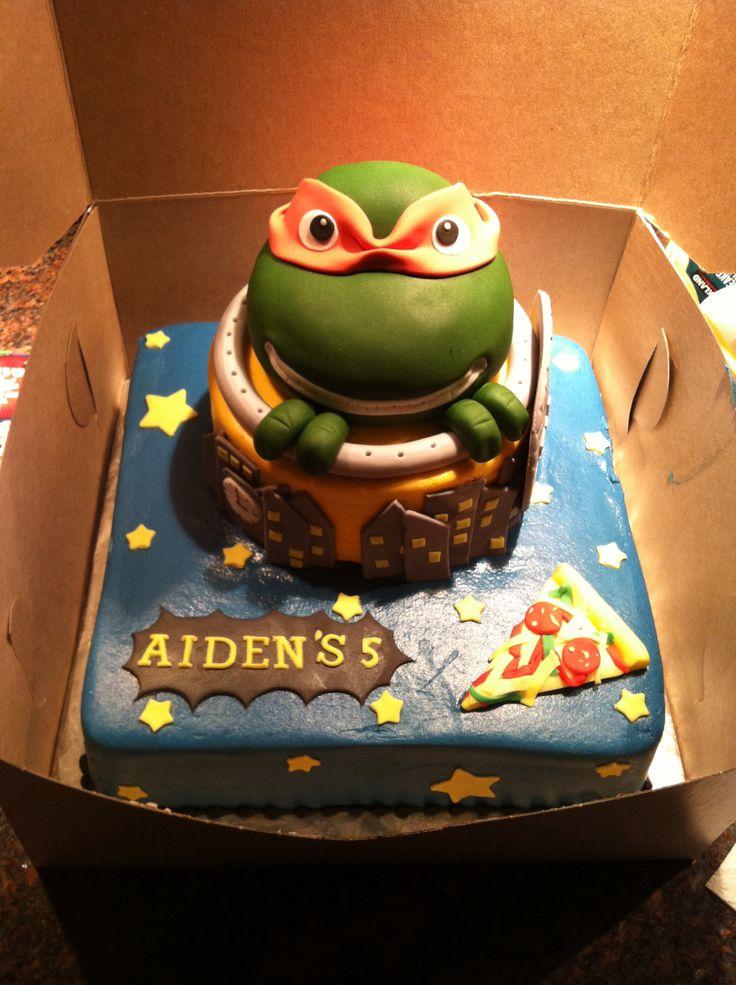 Ninja Turtle birthday cake  Devins birthday party  Pinterest