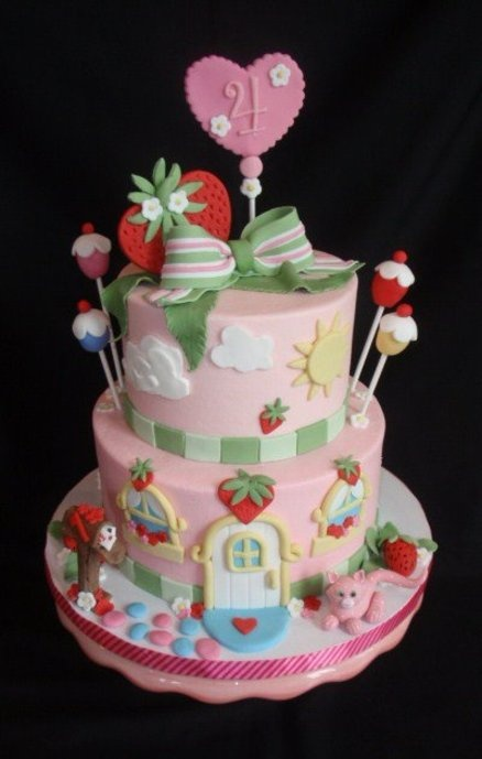 Strawberry shortcake  Cake by jan14grands