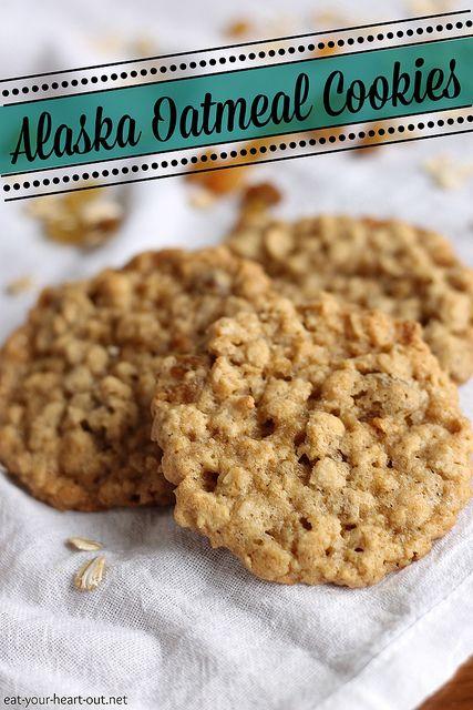 Alaska Oatmeal Cookies These thin, chewy oatmeal raisin cookies will ...