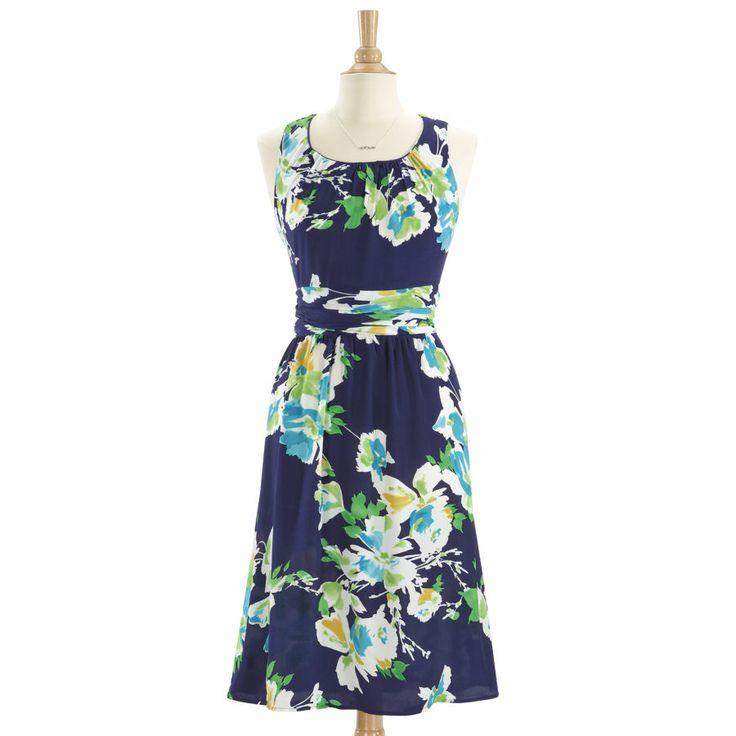 Womens Ruched Waist Floral Dress If They Go On Sale Pinterest