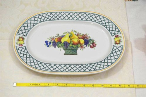 villeroy and boch basket oval serving platter plate. Black Bedroom Furniture Sets. Home Design Ideas