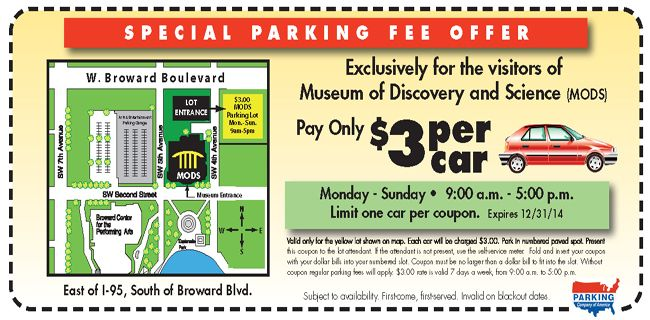 Museum of discovery and science discount coupons