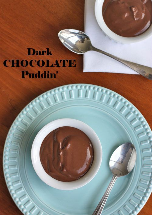 Deep Dark Chocolate Pudding - Gluten-free
