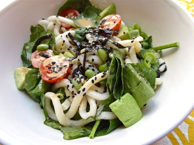 Edamame and Avocado Sesame Noodle Salad | Recipes to try | Pinterest