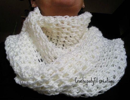 Crochet Snood : mon snood au crochet accessoires utiles Pinterest