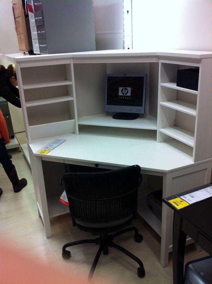 Ikea hemnes corner desk office ideas pinterest - Ikea office desk uk ...