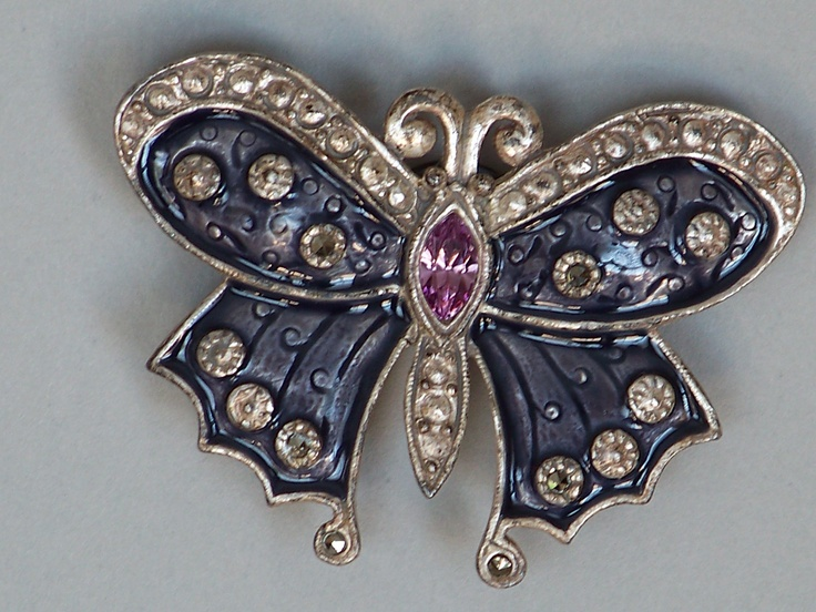 Silvertone Vintage Butterfly Magnet...Repurposed Pin...Buyer can Easily Turn back into A Pin...Great Gift...FREE SHIPPING. $8.00, via Etsy.