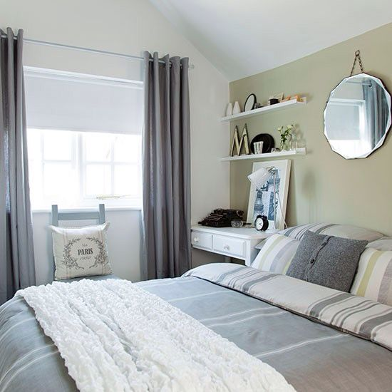 soft grey and green bedroom make a house a home pinterest