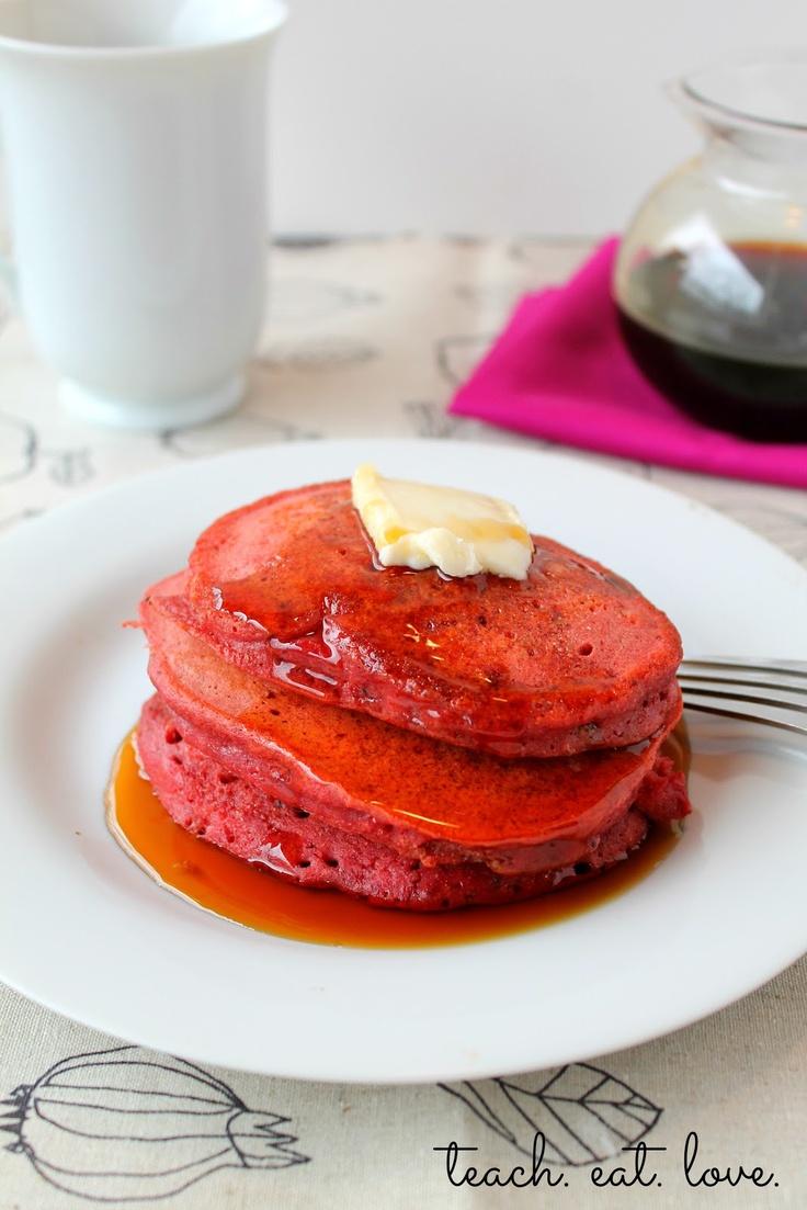 Red Velvet Pancakes | Pancakes | Pinterest