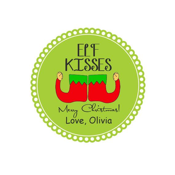 Printable ELF KISSES tag - Attach to a cello bag of hershey kisses and ...
