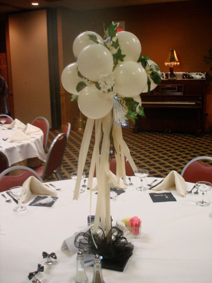 Elegant balloon centerpiece wedding ideas pinterest