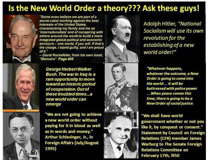 the theories of the new world order Although one of the underlying themes of the various conspiracy theories regarding dia holds that stapleton was  far nastier than just an airport—like the new world order or our own american .