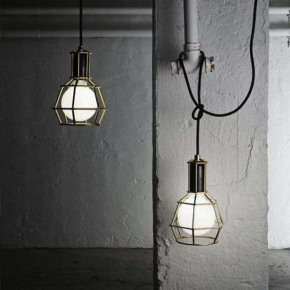 Work Lamp Wire Cage Pendant Light. Modern style by GlassandbrassCo, $ ...