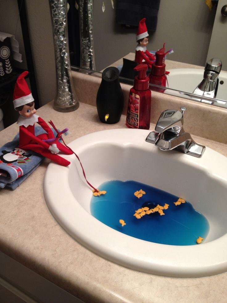 Elf on the shelf fishing kids pinterest for Elf on the shelf fishing