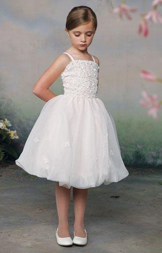 narrow short sleeve flower girl dresses