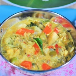 Vegetable Stew - Mixed Vegetables cooked in mildly spiced coconut milk ...