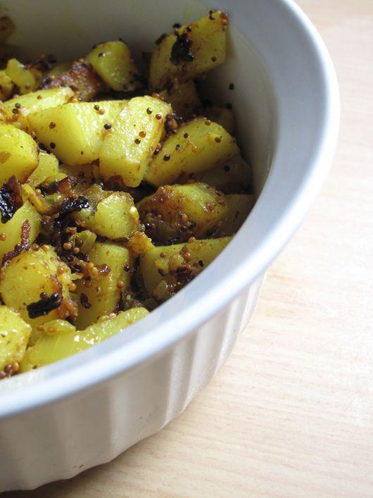 Indian Spiced Crash Potatoes Recipe — Dishmaps