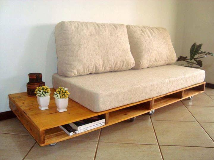Base de sofá con palets