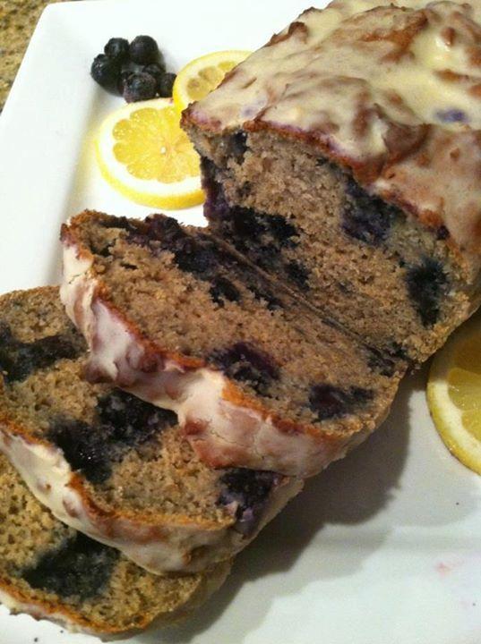 Blueberry Oat Protein Quick Bread w/Lemon Glaze by Nikia L Dyson https ...