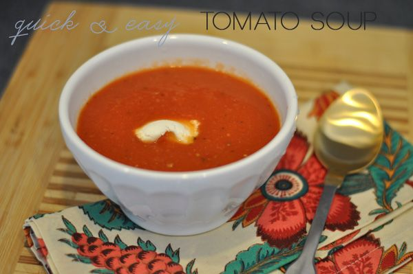 Quick & Easy Tomato Soup | bon appetit - sides and snacks. | Pinterest