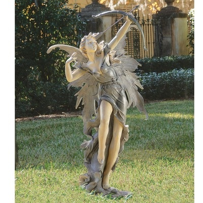 Rhiannon the archer garden fairy statue - Garden fairy statues ...