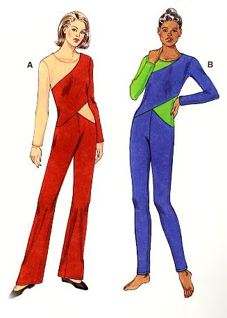 Excellent Vintage Womens Jumpsuit Pattern 1970s Shirt Waist Jumpsuit