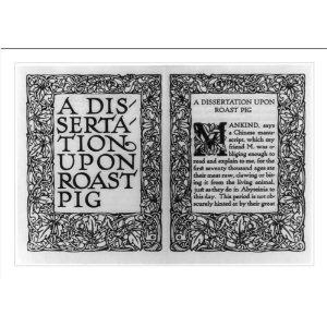 dissertation of a roast pig