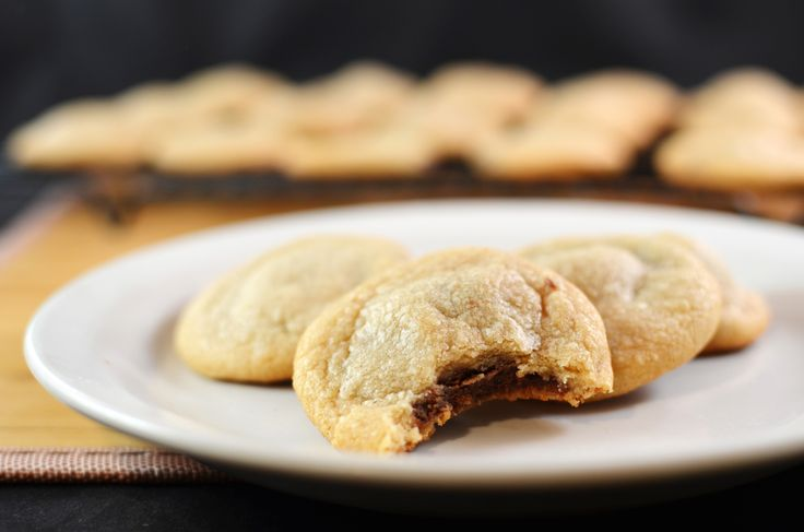 Peanut Butter Nutella Stuffed Cookies...I'm not a Nutella fan but I'm...