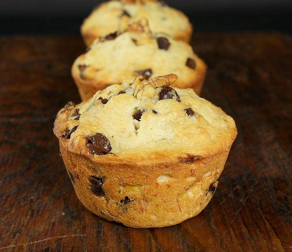 Banana Chocolate Chip Muffins-Banana Muffins-Banana Muffin Recipes