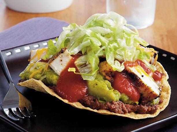 Sizzling Grilled Chicken Tostadas   Recipe