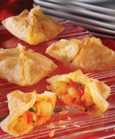 Curried Phyllo Shrimp | Appies | Pinterest