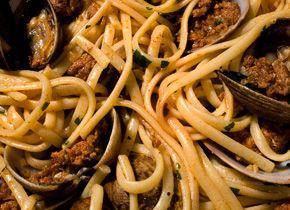 clams and chorizo bavette calamari capellini a k a angel hair ...