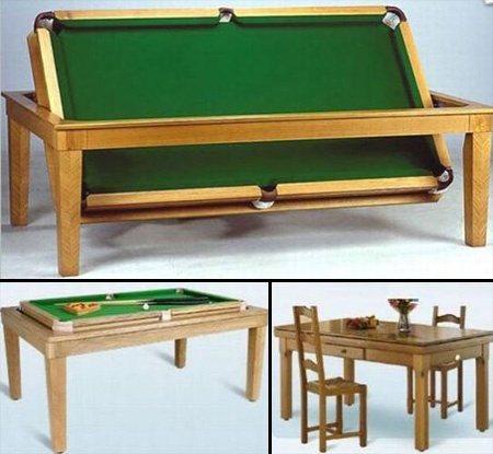 Dining room pool table billiards pinterest for Pool table dining room table