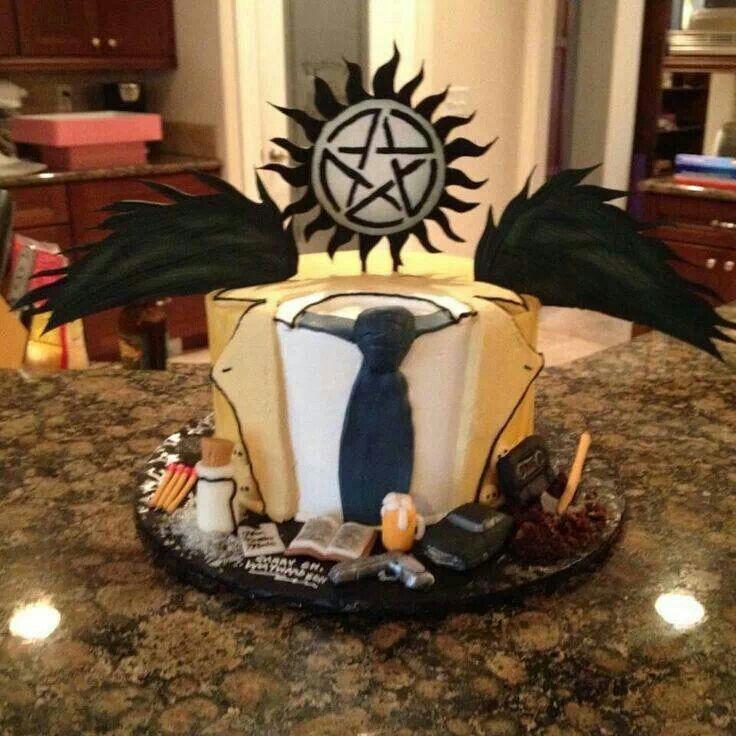 supernatural cake go castiel amazing cake designs