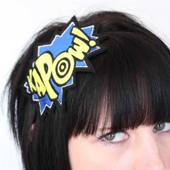 Kapow! Headband! janinebasil.etsy.com