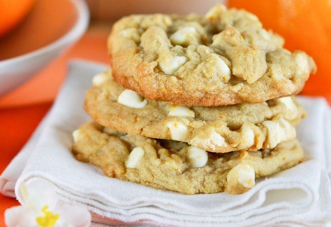 Orange White Chocolate Chip Cookies | Chefdom | Pinterest