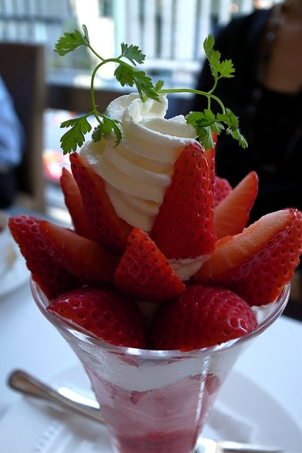 Strawberry parfait. #Strawberry #parfait