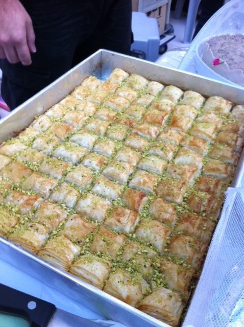 Petit Four's heavenly sweet crunchy Baklawa with pistachio filling
