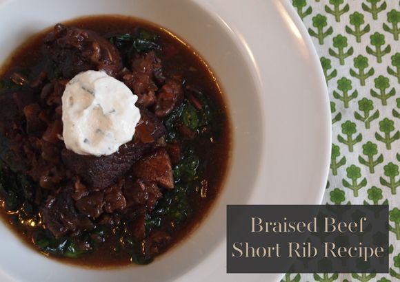 ... Beef Short Rib Recipe with Sautéed Swiss Chard & Horseradish Cream