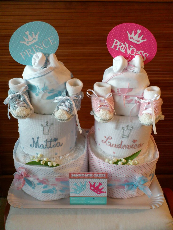 diaper cake for twins baby pinterest