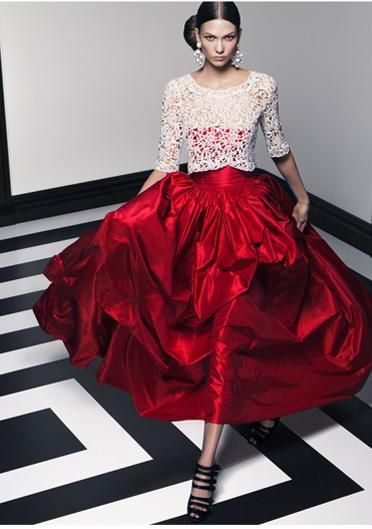 Karlie Kloss by Craig McDean for Oscar de la Renta