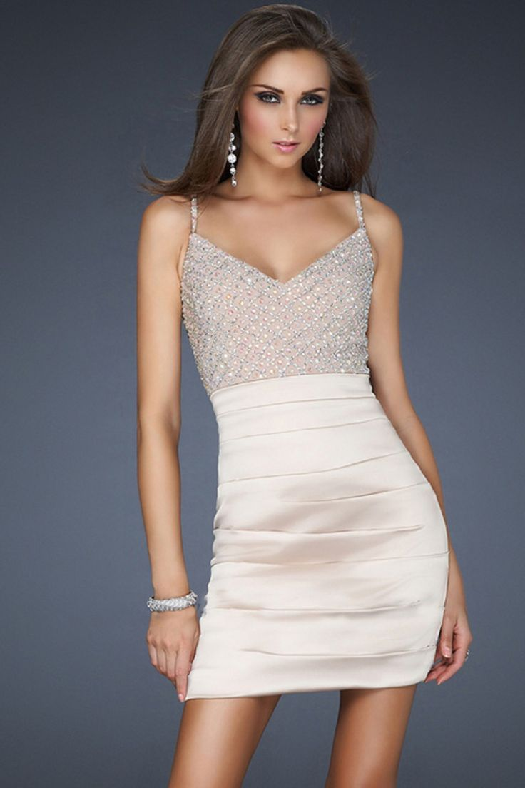 Cheap Tight White Homecoming Dresses - Holiday Dresses