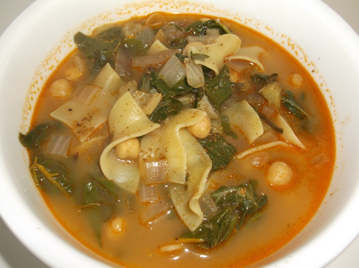 Tunisian Soup with Chard and Egg Noodles: while I like Swiss chard, I ...