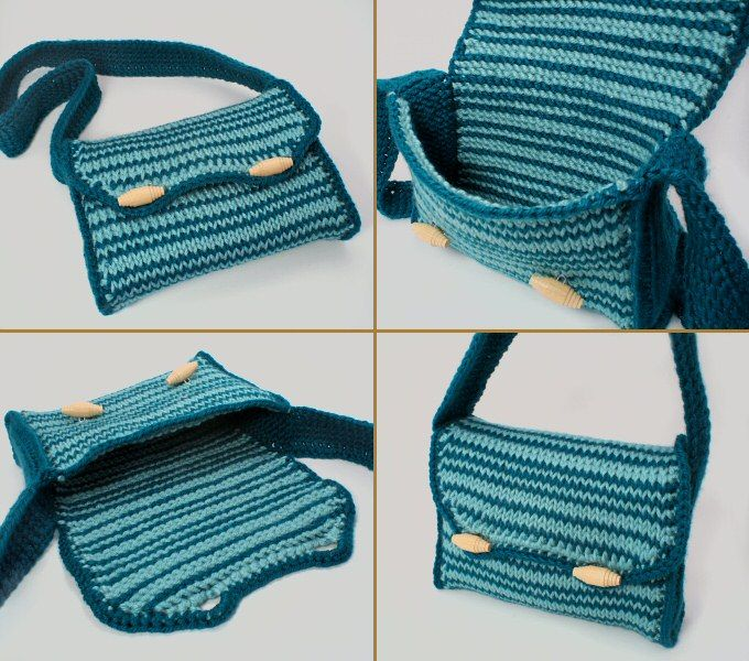 Tunisian Crochet Patterns Bags : Tunisian Stripe Purse crochet pattern Tunisian Crochet Pinterest