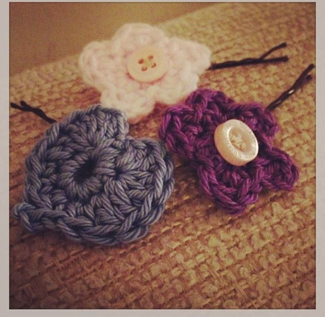 Crochet Hair Pins : Crochet hair pins