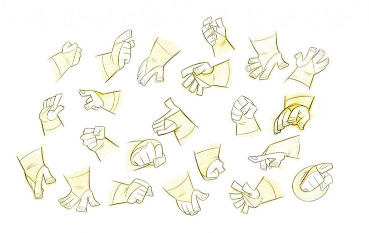 dibujar poses de manos estilizadas guerrero